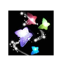 100PC New Free Shipping Colorful butterfly small night lamp/creative led colorful small night lamp  Christmas decoration