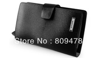 Free shipping genuine leather wallet,2011 hot sale Fashion and New leather wallet P11222-BLK
