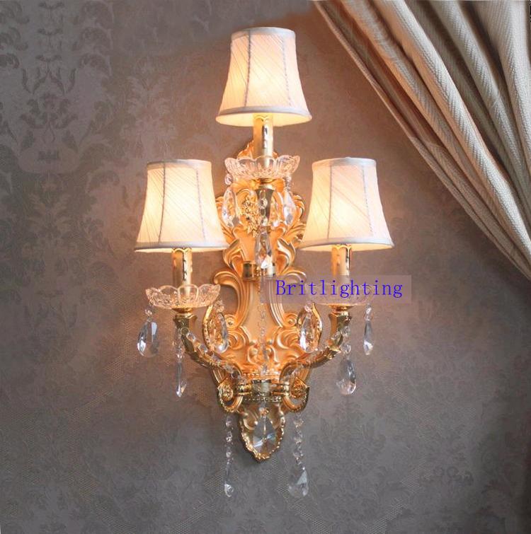 Vintage Crystal Wall Lights : Aliexpress.com : Buy k9 crystal led wall lights wrought iron wall lamp vintage Large Sconces ...