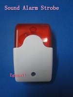 AD-103 Mini 12V Security Wired Flash & Sound Alarm Strobe Light Siren Red S164