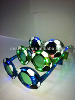 2013 New Year LED Glasses Football Game Flash Lights Glasses Event & Party Decoration