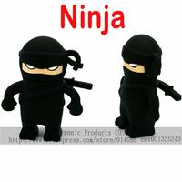 4 colors choice Free shipping Wholesale Ninja Usb 2.0 Flash Memory Drive Pen Disk Stick 2GB 4GB 8GB 16GB 32GB