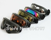 1 piece x Top Popular Airsoft X400 Wind Dust Protection Goggle Glasses Skiing Sunglasses Safety Glasses 5 Colors Optional bb027