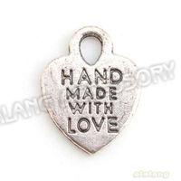 240pcs/lot Antique Silver Tone Wholesale Heart Shape Pendant Charms Zinc Alloy Jewelry Fit Jewelry&Necklace DIY 143637