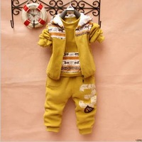 2012 Children girls boys children sweater three-piece suit winter fleece thick section