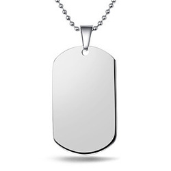 10pcs 316L Stainless Steel Dog Tags Pendant Necklace,Wholesale Men's 316L Steel Jewelry,Silver Soldier Army Dog Tag Necklace(China (Mainland))