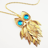 ON0166 Fashion accessories female blade owl necklace female necklace