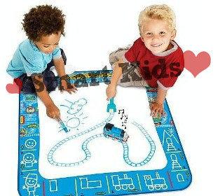 Free shipping!! 3pcs/lot baby boys/girls water drawing mat Aquadoodle Doodle Mat Thomas & Friends78*78cm Mat+Pen sets