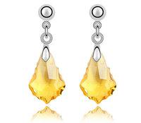 18kgp gold plated Austrian crystal earrings for women/children 2013 Christmas cheap drop earring for sale long jewelry 3680