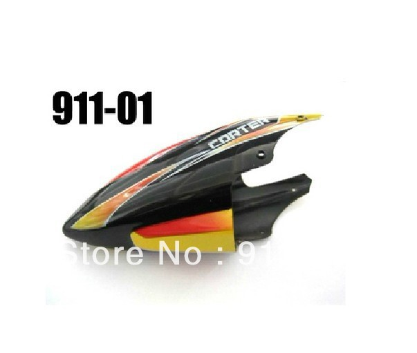 Wholesale Free shipping 10pcs/lot v911-01 head cover canopy for WL v911 rc mini helicopter spare part(China (Mainland))