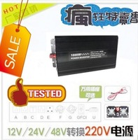 1000w pure sine wave inverter home car power converter 12v 220v/110v Free Shipping