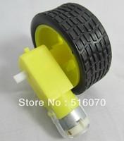 Smart car chassis robot tire + DC gear wheel motor 70g ,1 wheel + motor + bracket kit (for a motor)