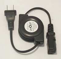 The U.S. regulatory plug products Suffix portable retractable power cord copper laptop power cord AC power cord