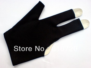 Free shipping 20pcs/LOT black Pool snooker Billiard table glove 3finger shooter 9-ball