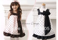 wholesales  4 pces/lot  summer clothing  Princess dress girls pretty dresses dots clothes  GGX