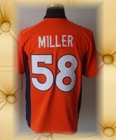 Brand New Denver Football Jerseys 58 Von Miller Orange Blue White 2012 Game Jerseys
