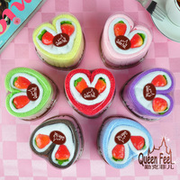 Hot Series of lovers wedding products supplies for Christmas 100% cotton towel cake strawberry twin double heart Monogatari
