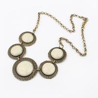 MLN006 Wholesale vintage women's Gold disc patchwork choker statement necklaces Collier Colares ethnic atacado de bijuteria