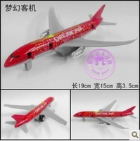 NEW genniue alloy Dream jetliner simulation aircraft model toy, flashlight/pull back/door can open, five colors + free shipping