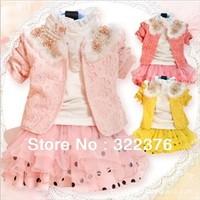 2012 children skirt suit qiu dong han new mini princess skirt the wrinkled skirt