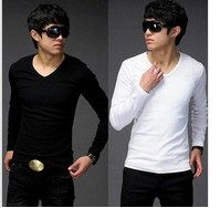 2012 New fashion Men's slim fit T-Shirts Casual Stylish Dress Shirt,wholesale and retail,2 colors,M-XXL,T2