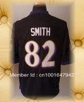 Brand New Baltimore Football Jerseys 82 Torrey Smith Black  Purple White Limited Jerseys