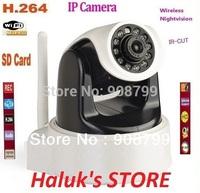 HD 1MP IP Camera H.264 &Mjpeg PT wireless Ip Camera With Ir-Cut,SD card slot (FREE SHIPPING)