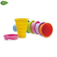 Free shipping OD01 folding cup magic  cup collapsible silicone storage bowl
