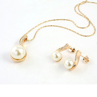 Min order is $15 (Mixed order ) Free shipping  wholesale pearl -simulated -or -artificial  jewelry set