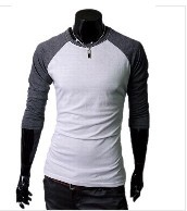 2012NEW ARRIVAL, men's T-shirts, long sleeve O-neck style, fashion shirts, MTL002