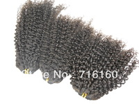 14+18+22 factory promotion price virgin Mongolian hair extensions Kinky curly,natural color,3packs/lot