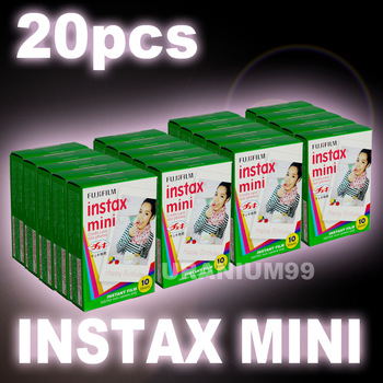 Polaroid Fuji Fujifilm Instax Mini Film x 20 Packs ( 200 sheets plain white edge photo ) for Instant Camera 7s 8 25 50s 55i 90