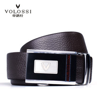 First layer of cowhide upper male automatic buckle genuine leather belt men's fashion all-match strap