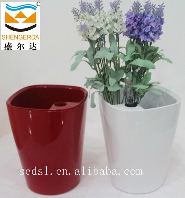 Self Water Small Decorative Pot Flower Pots Vase Plastic