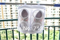 Hot Selling!!! Free shipping 5pcs/lot nylon mesh laundry basket / laundry basket for shoes airing basket