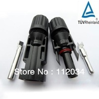 Free shipping(180pairs/lot)100% PPO material  MC4 solar PV connectors compatible with MC within TUV approved