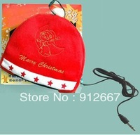 New Style Christmas hat gift for Christmas gift Beanie Hat with Braided Earflaps Built-in Headphones for iPod