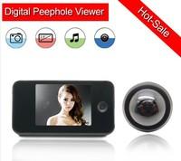 10pcs/lot 3.5 inch TFT LCD screen Photo shooting door eye viewer 300,000 pixels Built-memory digital peephole viewer 809