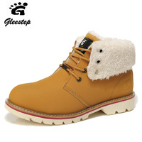 Gleestep winter trend suedemale tooling  martinplus velvet  snow boots male56238