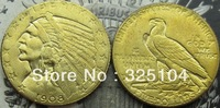 1908-S $5 GOLD Indian Half Eagle COIN COPY FREE SHIPPING