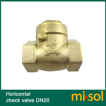 "1 pcs of horizontal check valve, 3/4"", DN20, Brass non return valve"