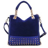 FLYING BIRDS  fashion leather women handbag rivet shoulder bag messenger bags HD8789