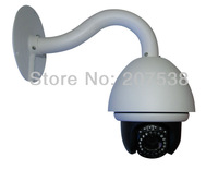 "Free shipping--High speed CCTV camera IR Infrared LED tilt 10x Zoom High Speed Dome 1/3"" Sony CCD PTZ 4"" surveillance waterproof"