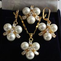 Charme Bijoux Real White Shell pendentif perle Bague