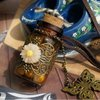 New Arrive ! Vintage Wishing Bottle Butterfly Pendant Daisy Necklace Fashion Leather Cord Sweater Chain 12pcs/lot Free Shipping