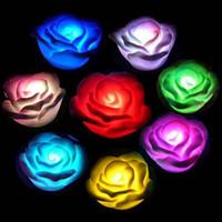 New Rose Flower LED night light seven Colors Changing 20PCS