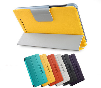 4in1 Kit For Google Nexus 7 2012 Nexus 7 II 2nd 2013 Book Smart Cover W/S Stand Leather Case+OTG Cable+Screen Protector+Pen