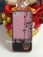 Leopard grain twinset shell case for iphone5s