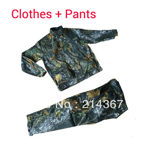 Leaf Bionic Camo Outdoor Clothes and trousers for Hunting Safari CS&amp;War Game(China (Mainland))