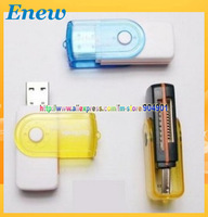 Free shiping USB 2.0 Micro SD Card Reader TF Card Reader All in 1 Card Reader